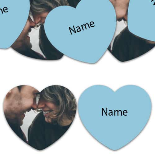 HEART Shape - Baby-Blue Personalised Confetti - Pack of 50 Product Image