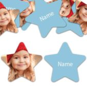 STAR Shape – Baby-Blue Personalised Confetti – Pack of 50