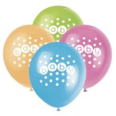 Baby Shower Latex Balloons 30cm -Pack Of 8