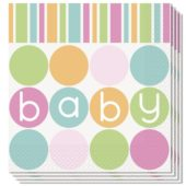 Baby Shower Luncheon Napkins 2Ply 33cm Pack Of 16