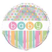 Baby Shower Round Foil Helium Balloon 46cm / 18Inch