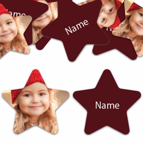 STAR Shape - Burgundy Personalised Confetti - Pack of 100 Product Image
