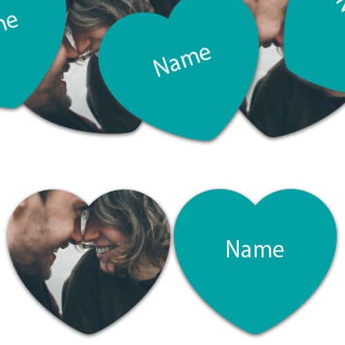 HEART Shape - Caribbean-Teal Personalised Confetti - Pack of 50 Product Image
