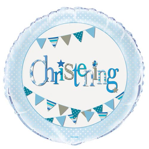 Christening Blue Foil Helium Balloon 46cm / 18Inch