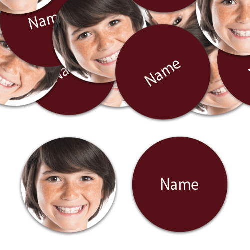 CIRCLE Shape - Burgundy Personalised Confetti - Pack of 50 Product Image