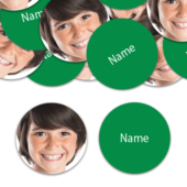 CIRCLE Shape – Green Personalised Confetti – Pack of 50