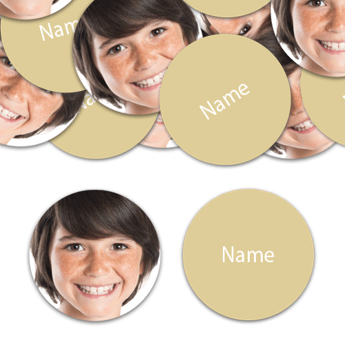 CIRCLE Shape - Ivory Personalised Confetti - Pack of 50 Product Image