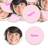 CIRCLE Shape – Light Pink Personalised Confetti – Pack of 50