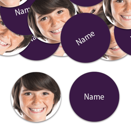 CIRCLE Shape - Purple Personalised Confetti - Pack of 50 Product Image