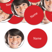 CIRCLE Shape – Red Personalised Confetti – Pack of 50