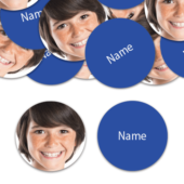 CIRCLE Shape – Royal-Blue Personalised Confetti – Pack of 50