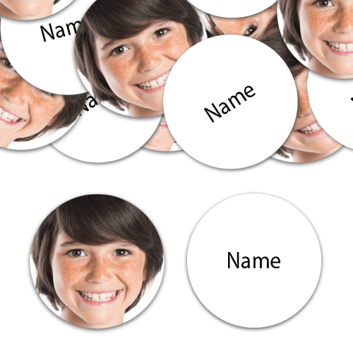 CIRCLE Shape - White Personalised Confetti - Pack of 50
