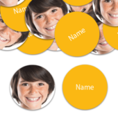 CIRCLE Shape – Yellow Personalised Confetti – Pack of 50