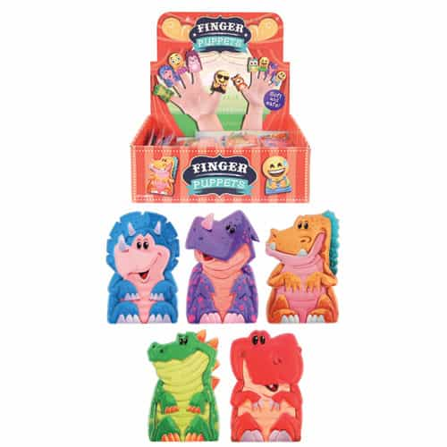 Dinosaurs Finger Puppets Assorted Designs - Single