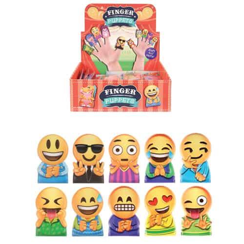 Emoji Finger Puppets Assorted Designs - Single