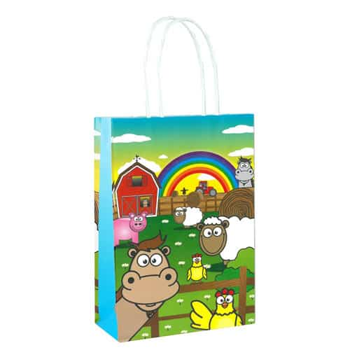 Farm Animals Paper Bag With Handles 21cm Product Image