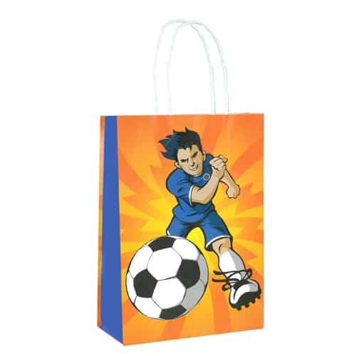 Football Paper Bag With Handles 21cm