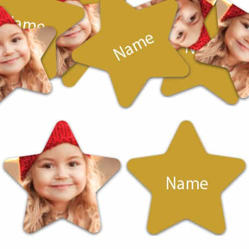 STAR Shape - Gold Personalised Confetti - Pack of 50 Product Image