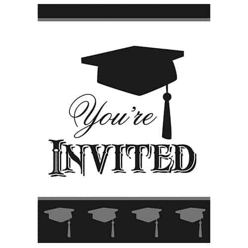 Graduation Invitations with Envelopes - Pack of 8