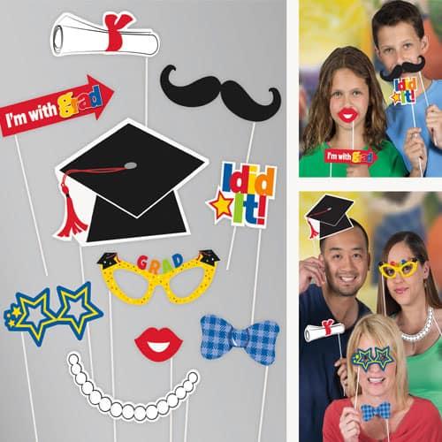 Graduation Photo Prop Accessories - Pack of 10