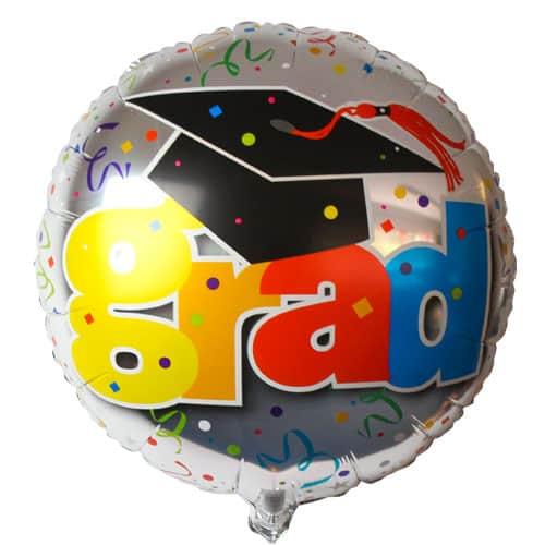 Graduation Round Foil Helium Balloon 46cm / 18Inch
