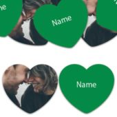 HEART Shape – Green Personalised Confetti – Pack of 50