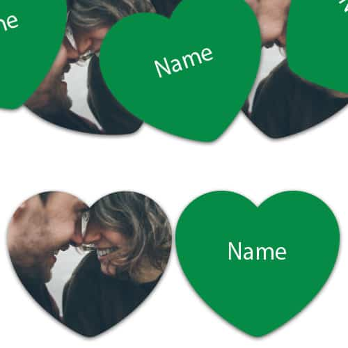 HEART Shape - Green Personalised Confetti - Pack of 50 Product Image