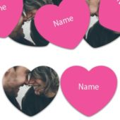 HEART Shape – Hot Pink Personalised Confetti – Pack of 50