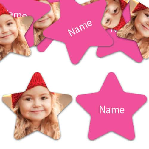 STAR Shape - Hot Pink Personalised Confetti - Pack of 200 Product Image