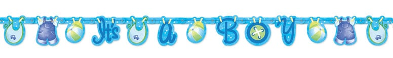 Its A Boy Clothesline Jointed Letter Banner - 157cm