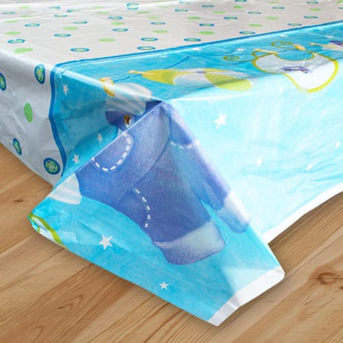 Its A Boy Clothesline Plastic Tablecover - 137 x 213cm