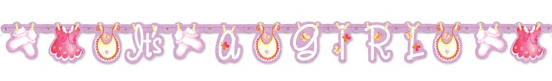 Its A Girl Clothesline Jointed Letter Banner – 157cm