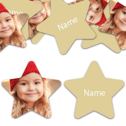 STAR Shape - Ivory Personalised Confetti - Pack of 50 Product Image