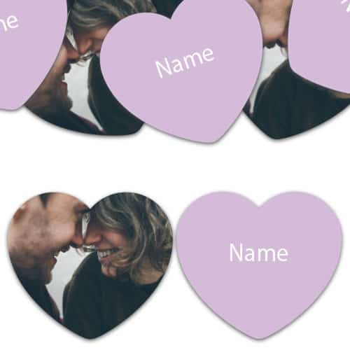 HEART Shape - Lilac Personalised Confetti - Pack of 200 Product Image