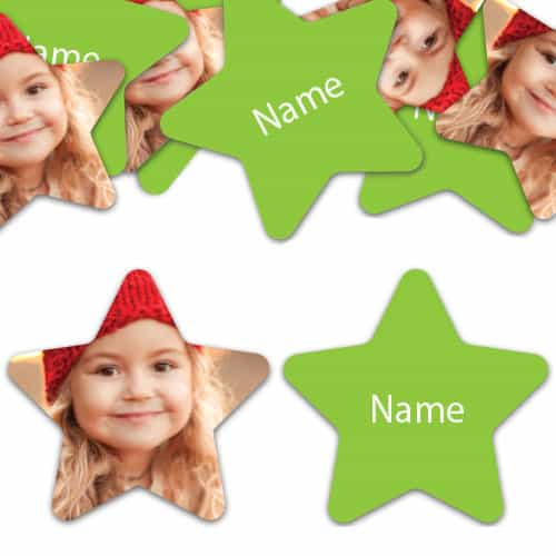 STAR Shape - Lime-Green Personalised Confetti - Pack of 200 Product Image