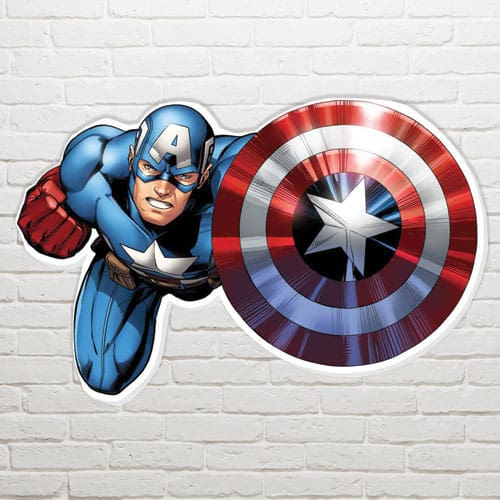 Marvel Captain America Shield Wall Art - 61 x 94cm Product Gallery Image
