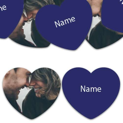 HEART Shape - Navy-Blue Personalised Confetti - Pack of 50 Product Image