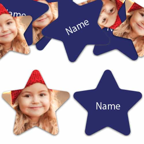STAR Shape - Navy-Blue Personalised Confetti - Pack of 200 Product Image