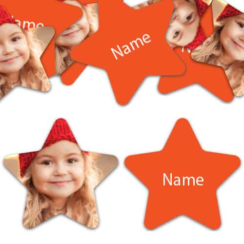 STAR Shape - Orange Personalised Confetti - Pack of 50