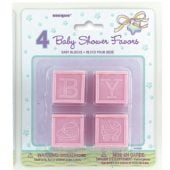 Pink Baby Shower Theme Baby Blocks – Pack of 4