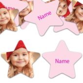 STAR Shape – Light Pink Personalised Confetti – Pack of 50