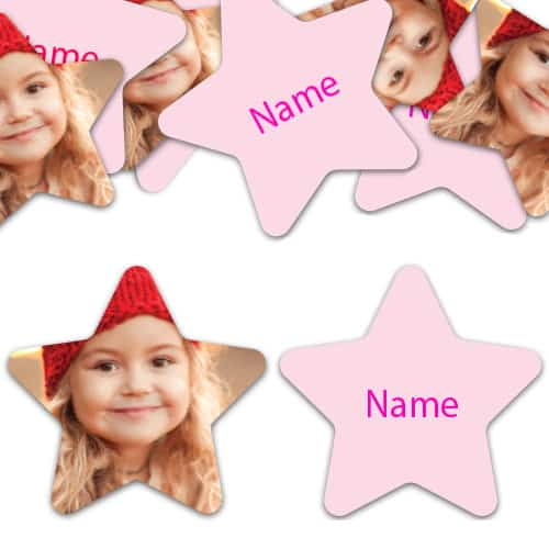 STAR Shape - Light Pink Personalised Confetti - Pack of 50