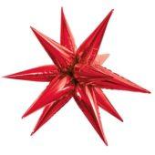 Red 3D Star Foil Balloon 70cm / 28Inch