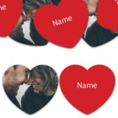 HEART Shape – Red Personalised Confetti – Pack of 50