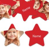 STAR Shape – Red Personalised Confetti – Pack of 50