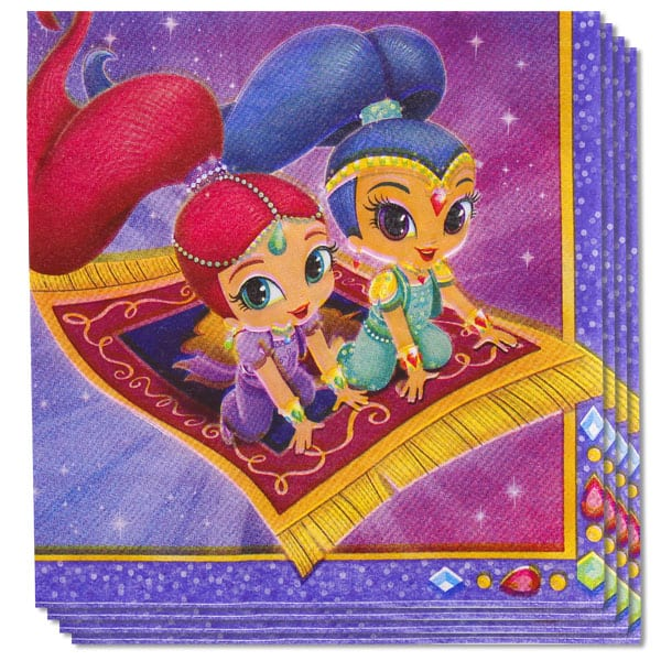 Shimmer And Shine Luncheon Napkin 2 Ply 33cm Pack of 16