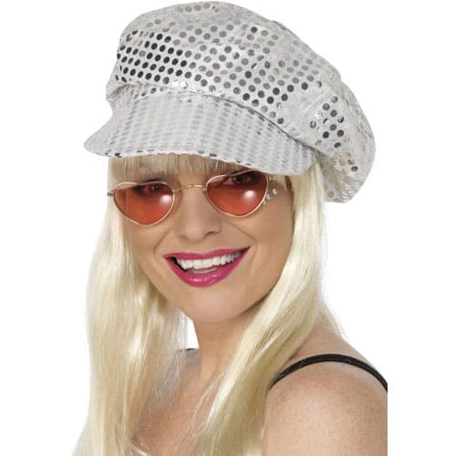 Silver Dazzle Dot Disco Hat Product Image