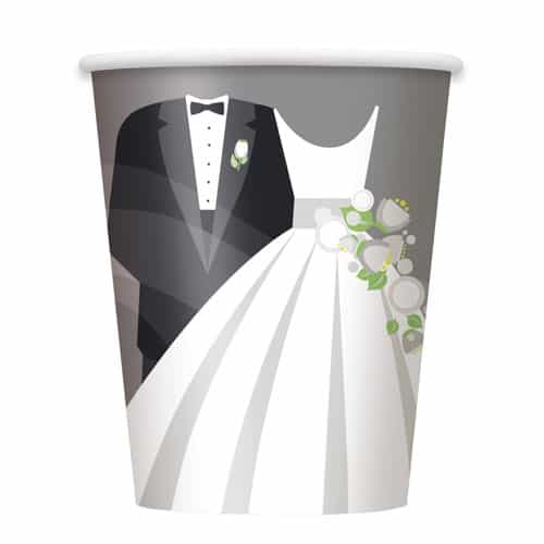Silver Wedding Paper Cup 270ml