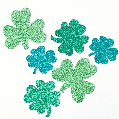 St Patricks Day Mini Glitter Cutouts - Pack Of 6