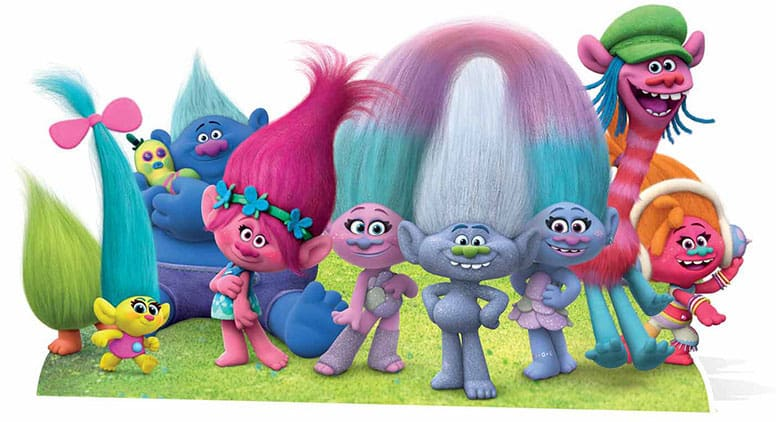 Trolls Group Cardboard Cutout - 81cm Product Gallery Image